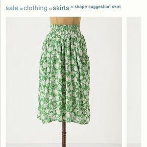 Anthropologie Porridge Shape Suggestion Skirt S